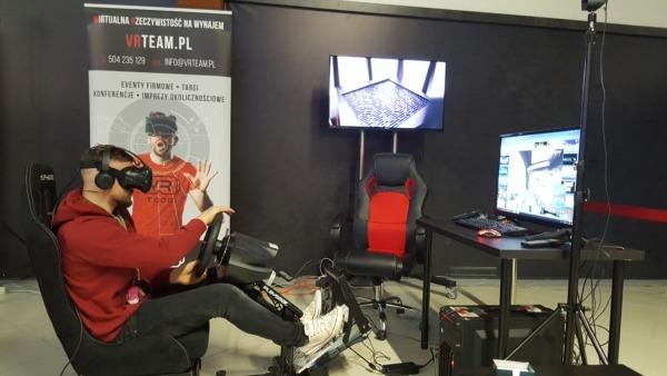 Symulator rajdowy do gogli VR - wynajem wypożyczalnia