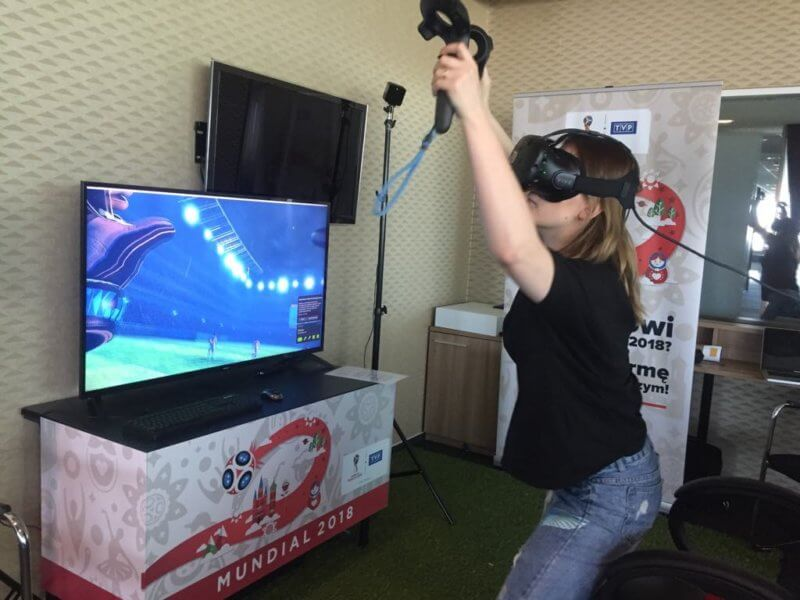 Mundial 2018 - impreza integracyjna piłka nożna gogle vr