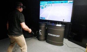 WIrtualna rzeczywistość Konkurs Tenis Paryż VR