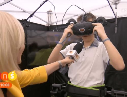 Bieżnia VR Virtuix Omni w Pytanie na Śniadanie PNŚ TVP2 03.06.2018