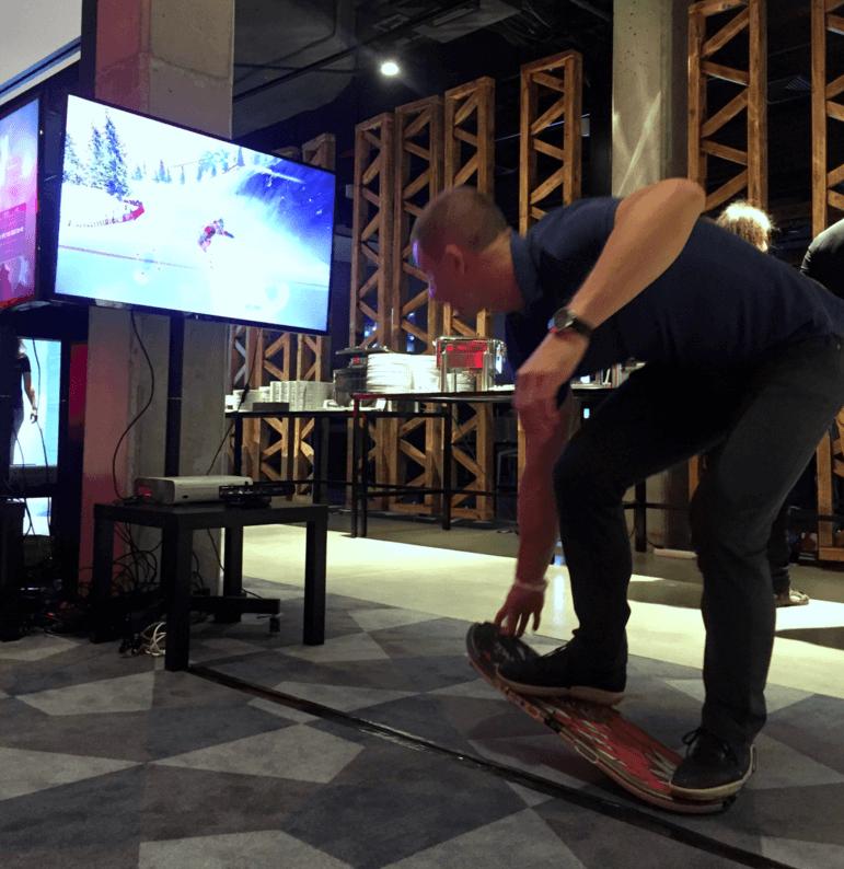Symulator snowboard i symulator deskorolki na event