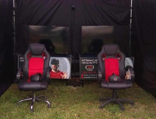 Atrakcje na piknik: gogle VR, symulator rajdowy VR, symulator wyścigowy, bieżnia VR wynajem