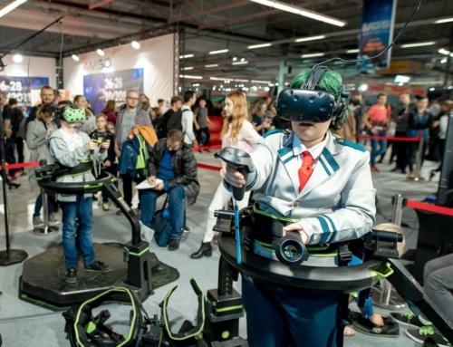 Realizacja: Bieżnia VR Virtuix Omni na wynajem na Warsaw Games Show