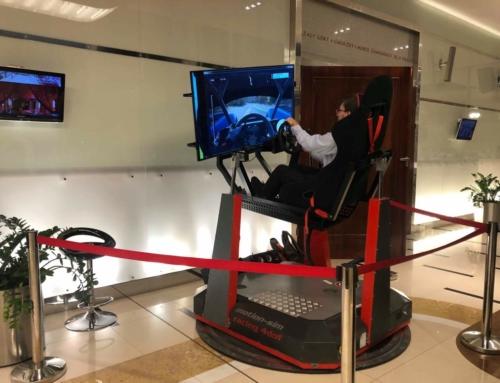 Realizacja: symulator rajdowy na podnośnikach wynajem w Hotelu Mazurkas