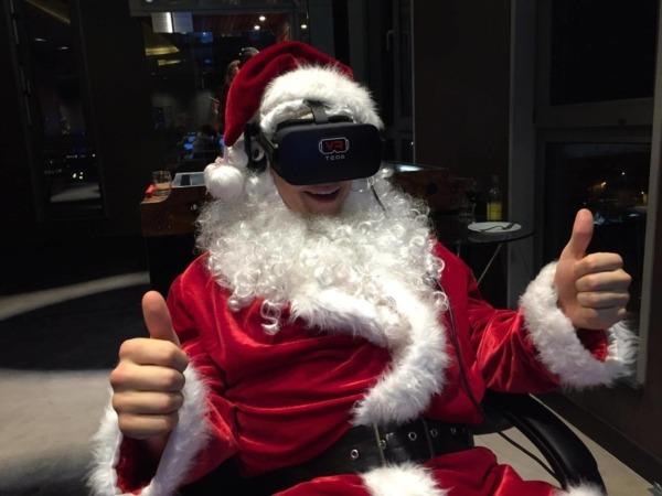 Święty Mikołaj gogle VR wynajem