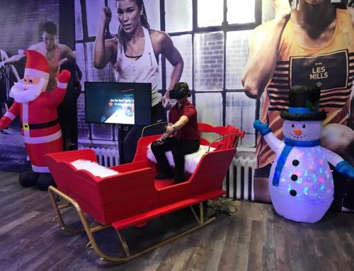 Realizacja: sanie Mikołaja VR wynajem na imprezę firmową
