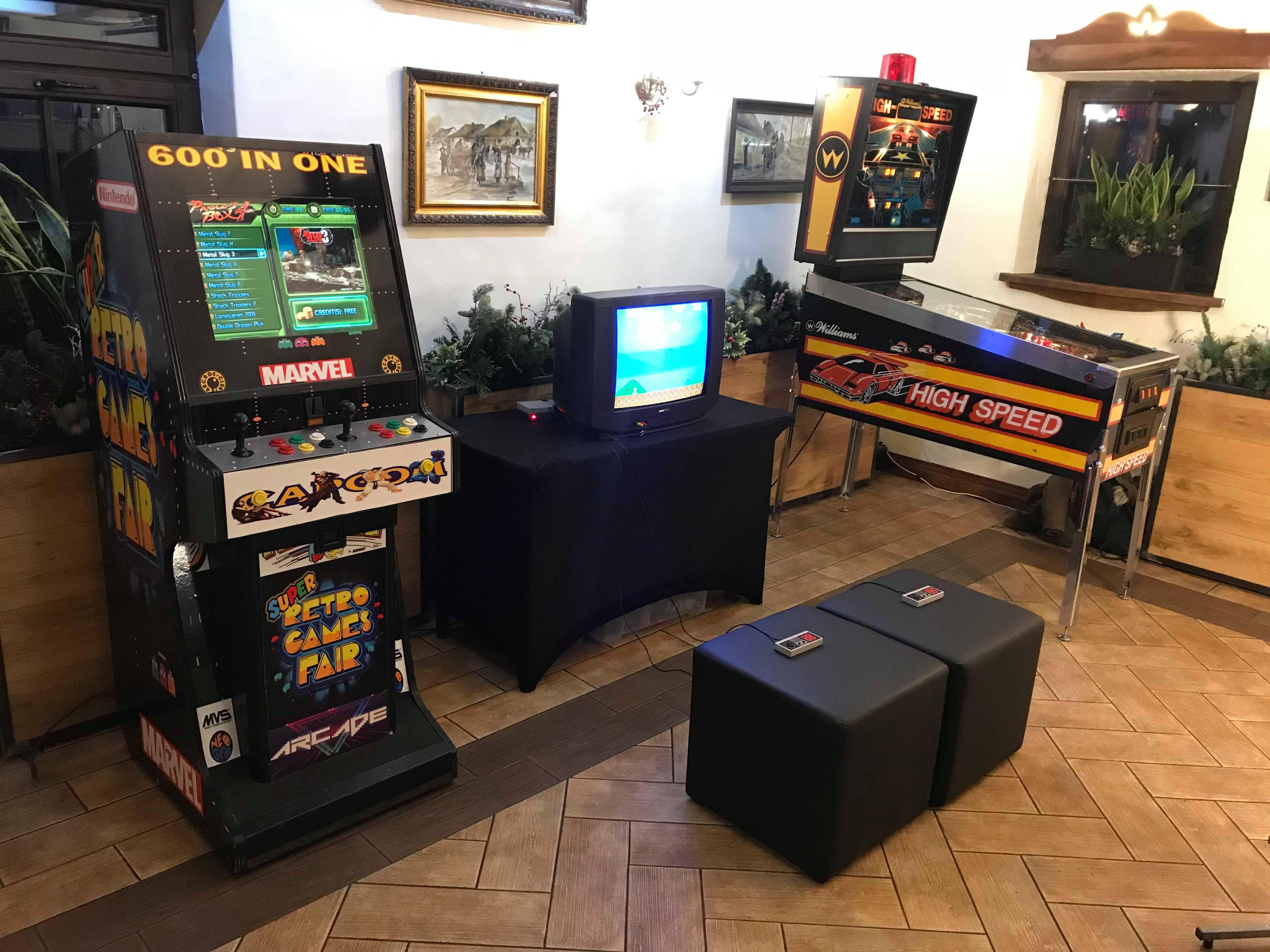 Flipper, konsola retro, automat arcade do wynajęcia