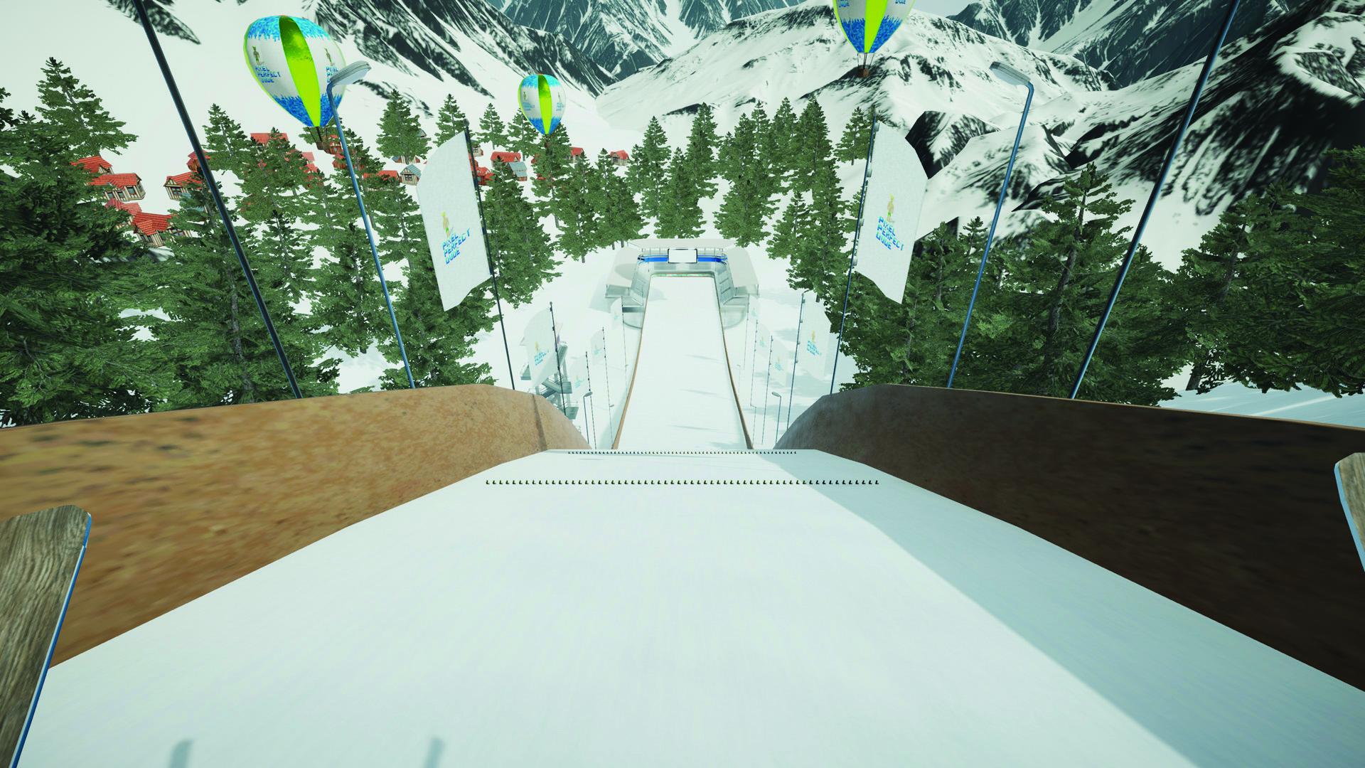 Symulator skoków narciarskich VR