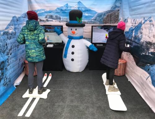Symulator nart i snowboardu do wynajęcia na event