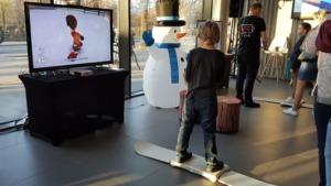 Symulator snowboardu do wynajęcia na event