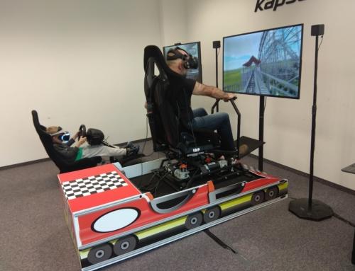 Symulator VR na ruchomej platformie: Symulator rajdowy VR, lotu VR, rollercoaster VR