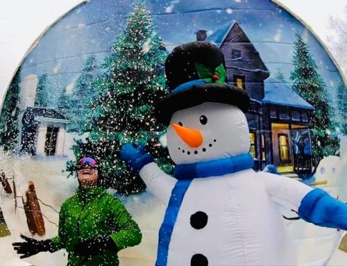 Dmuchana śnieżna kula – wynajem na event