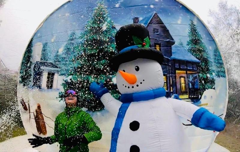 Dmuchana śnieżna kula wynajem