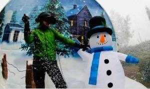 Dmuchana śnieżna kula VR