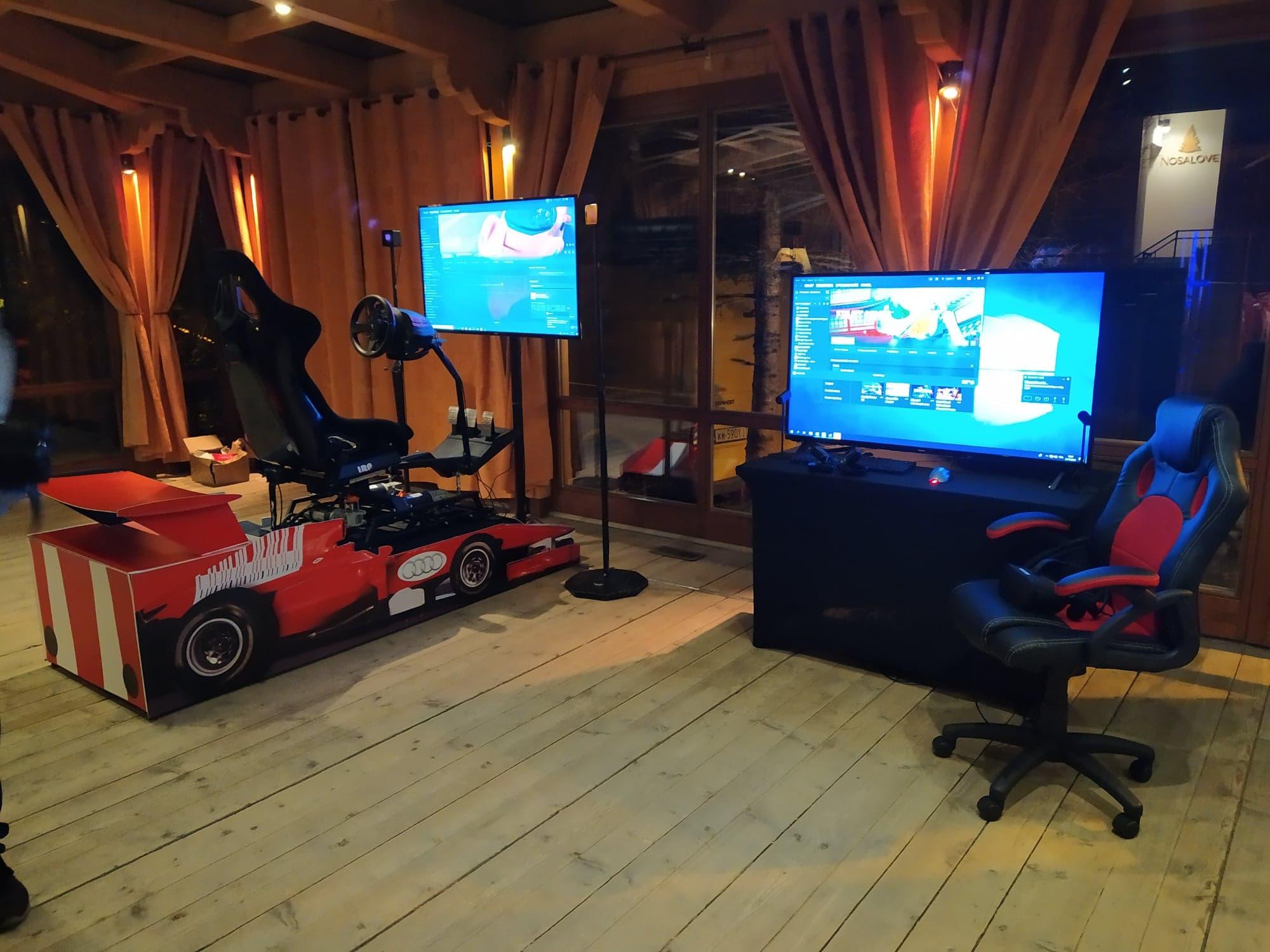 Symulator rajdowy VR 3DOF na event, imprezę, targi, konferencje