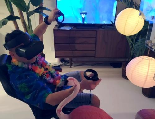 Realizacja: gogle VR wynajem – motyw hawajski